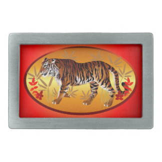YEAR OF THE TIGER- RECTANGULAR BELT BUCKLE
