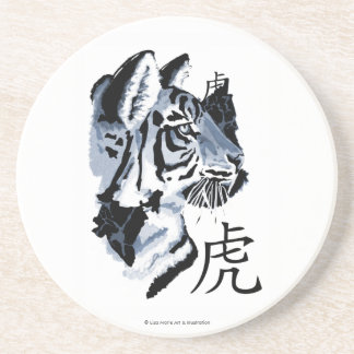 Year of the Tiger Sandstone Coaster