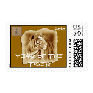 Year of the Tiger-Vintage Look Postage