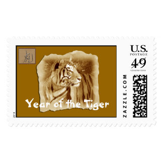 Year of the Tiger-Vintage Look Postage Stamps