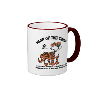 Year of The Tiger Zodiac Gift Ringer Mug