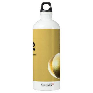Year of theSnake lantern yellow gold Aluminum Water Bottle