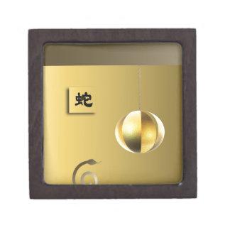 Year of theSnake lantern yellow gold Premium Gift Box