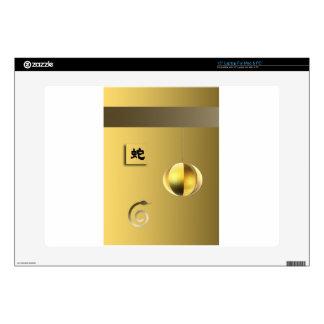 """Year of theSnake lantern yellow gold 15"""" Laptop Skins"""
