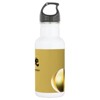Year of theSnake lantern yellow gold Stainless Steel Water Bottle