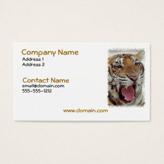 Year of Tiger Business Card