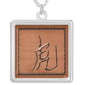 Year of Tiger-Chinese Symbol Silver Plated Necklace