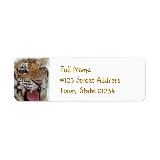 Year of Tiger Return Address Label