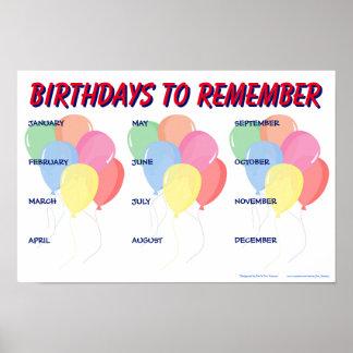 Year-Round Birthday Reminder Sign