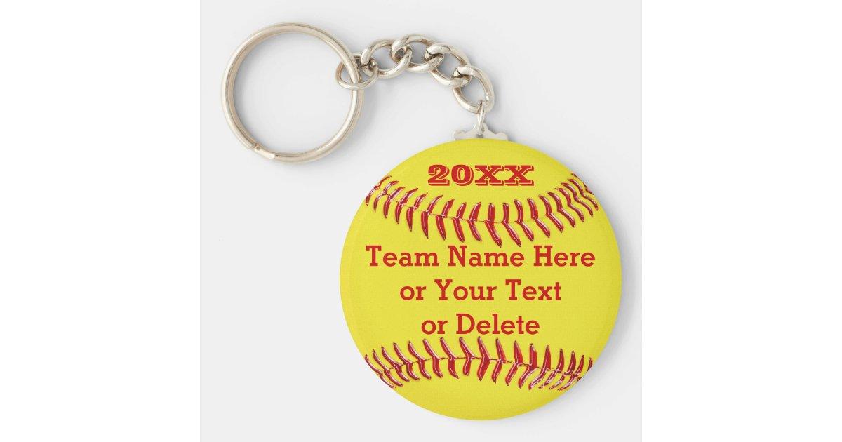 Softball Keychain softball bag tag PERSONALIZED SOFTBALL GIFTS team gifts