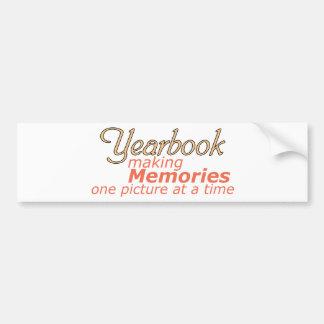 Yearbook Making Memories Bumper Sticker