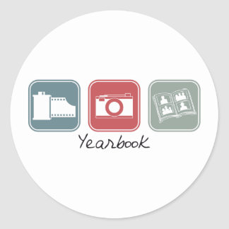Yearbook (Squares) Classic Round Sticker