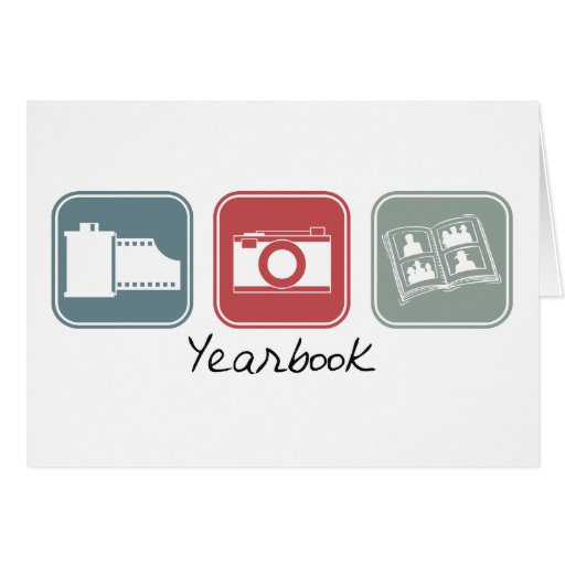 Yearbook (Squares) Greeting Cards
