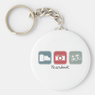 Yearbook (Squares) Basic Round Button Keychain