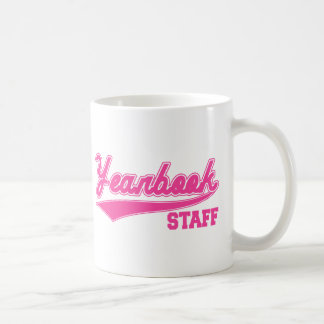 Yearbook Staff (Baseball Script Pink) Coffee Mug