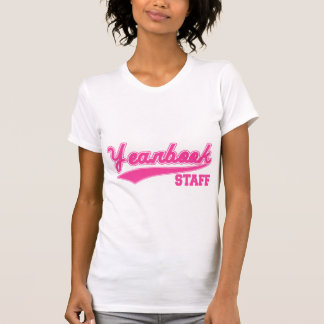 Yearbook Staff (Baseball Script Pink) Tee Shirts