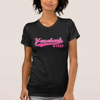 Yearbook Staff (Baseball Script Pink) Tshirts