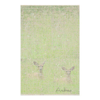 Yearling Deer Linen Stationery
