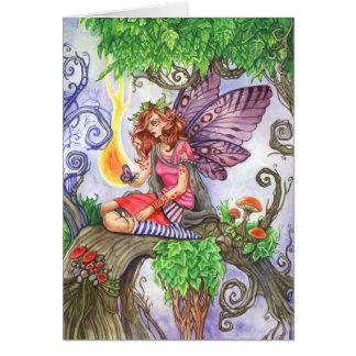 Yearning Fairy Greeting Card