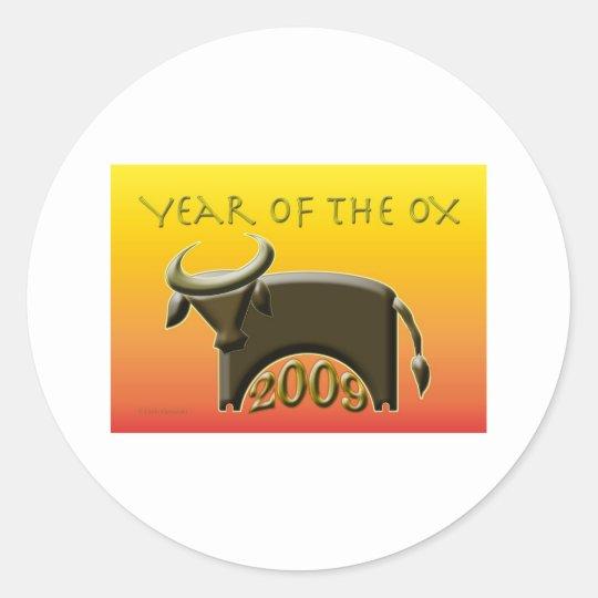 YearOx2009 Classic Round Sticker