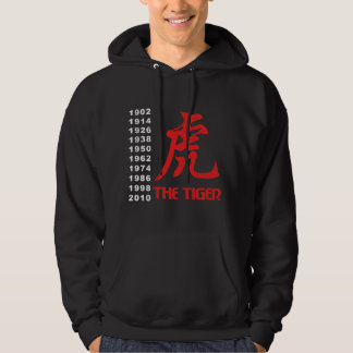 Years of The Chinese Zodiac Tiger Black Pullover
