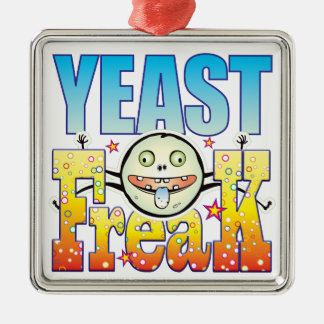 Yeast Freaky Freak Silver-Colored Square Decoration