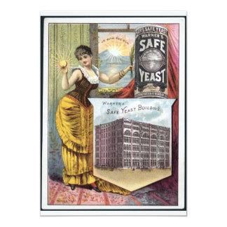 Yeast vintage ad card