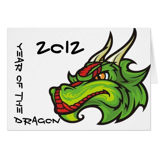 Yeat del dragón 2012 tarjeta de felicitación