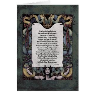 """Yeats """"recibimiento tarjeta del arte del Victorian"""