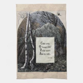 """Yeats """"The Stolen Child"""" Victorian Tea Towel"""