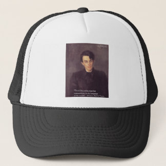 "Yeats ""Think Wise"" Wisdom Quote Gifts & Cards Trucker Hat"
