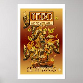 YEBO Burning Monk, Civil Disobedience 1 Poster