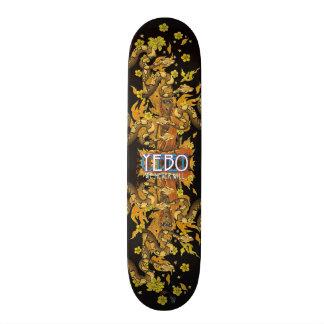 YEBO Burning Monk Skateboard Deck