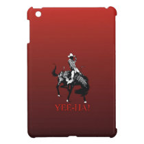 Yee-Ha! Rodeo cowboy on bucking horse stallion Cover For The iPad Mini