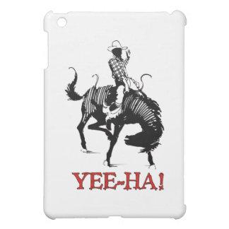 Yee-Ha! Rodeo cowboy on bucking horse stallion Cover For The iPad Mini