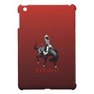 Yee-Ha! Rodeo cowboy on bucking horse stallion iPad Mini Cases