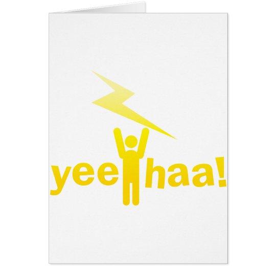 yee haa ! lightning man card
