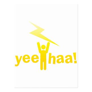 yee haa ! lightning man postcard