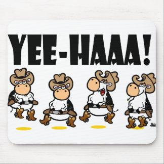 ¡Yee-HAAA Vacas de Linedancing Alfombrillas De Ratón
