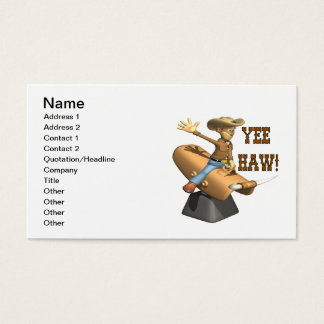 Yee Haw Business Card