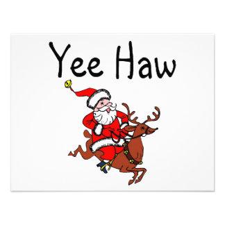Yee Haw Christmas Cowboy Santa Claus Invitations