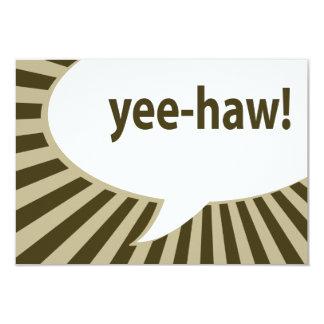 yee-haw! : comic speech bubble card