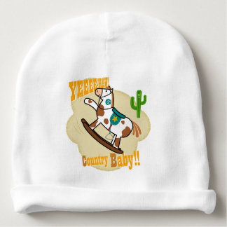 """""""Yee Haw Country Baby"""". Baby Cotton Beanie"""