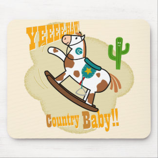 Yee Haw Country Baby Mouse Pad