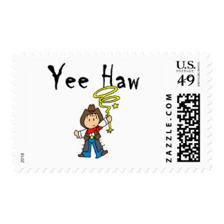 Yee Haw Cowboy Tshirts and Gifts Postage Stamps