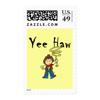 Yee Haw Cowboy Tshirts and Gifts Stamp