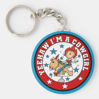 Yee Haw Cowgirl Tshirts and Gifts Keychain
