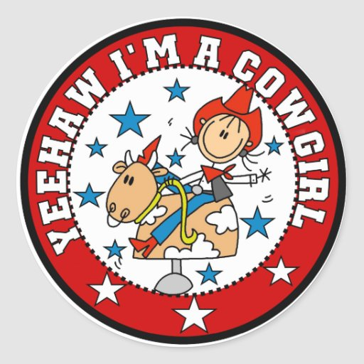 Yee Haw Cowgirl Tshirts and Gifts Stickers