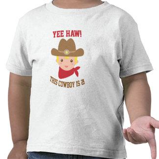 Yee Haw, Cute Little Cowboy is 2 Tee Shirt