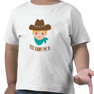 Yee Haw, Cute Little Cowboy is 3 Tees